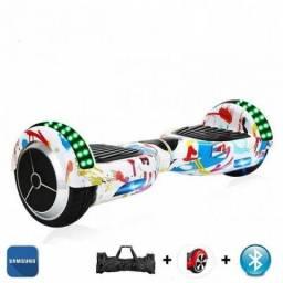 Skate Hoverboard 6.5 Branco com Bluetooth com led frontal e lateral