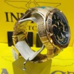 Relógio Invicta Mod. Pro Diver Referência 22767 Banhado à Ouro 18k 100% Legítimo