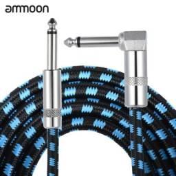 Cabo De Áudio Para Guitarra Ammoon - 6.35mm Plug P10/p10