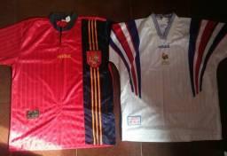 Camisas Espanha e França - Euro 1996