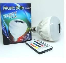 Lampada Musical De Led Bluetooth Rgb + Controle Remoto