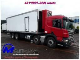 Furgão refrigerado para Scania bi truck Mathias Implementos