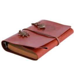 Sketchbook / Agenda / Caderno de Desenhos de Bolso Capa em Couro