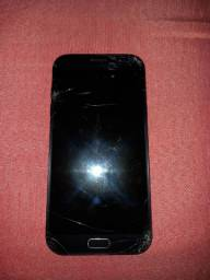 Celular Samsung A7 2017 *APENAS TELA TRINCADA *
