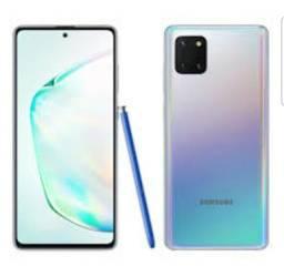 Samsung Note 10 Lite 128gb prata lacrado nota garantia aceito cel inferior/pagto cartão