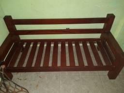 Jogo de sofá em madeira pura