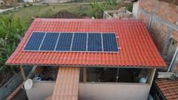 Energia solar ,elétrica residensial, padrão Cemig.