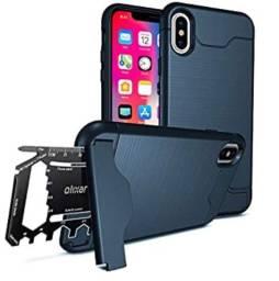 Capa case capinha stand e porta 1 cartão de credito iPhone