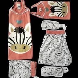 2 Kits Pijamas Mãe E Filha Com Alcinhas