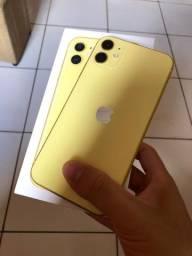IPhone 11 Amarelo 128g com garantia Apple e Seguro