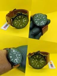 Relógio Skmei 9115 Pulseira de Couro Multifuncional