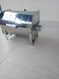 Mini churrasqueira portátil de inox