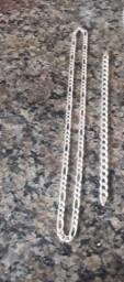 Corrente e pulsseira de prata