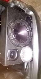 Caixa de som trio e módulo evolution 4.000 watts