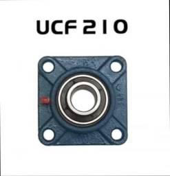 Mancal Quadrado Flange + Rolamento Ucf210 Ucf 210 Eixo 50mm - Ucp210 - 2 Pç, usado comprar usado  Goiânia