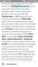 Usado, V/T Asus ZenFone 3 max comprar usado  Ananindeua