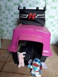 Casa cama cahorro furacão pet n° 3 e cestinha de pet para guidon de bike