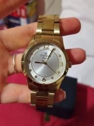 Relógio Dourado Champion Feminino