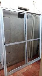 porta janela de alumínio Branco pintura eletrostática