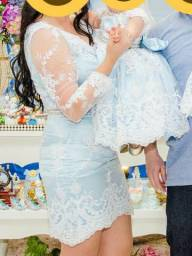 Vestidos festa luxo mãe e filha Cinderela/ Alice/ Frozen