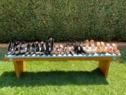11 Pares de Sapatos/Sandalias de Grife. Pacotão