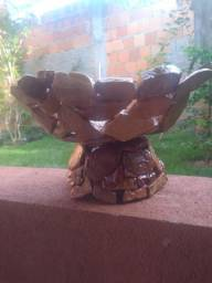 Vasos artesanais de pedra