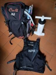 Kite Naish 2009 modelo Cult tamanho 13,5 (furado) +barra +bomba +colete NPX