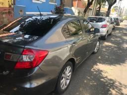 Civic automa?tico 1.8 cinza LXS 2014