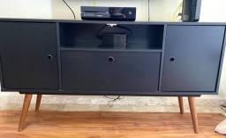 Rack para Tv - Móvel Preto fosco - Lindíssimo