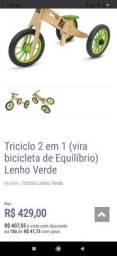 Bicicleta de equilíbrio e triciclo