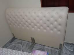 Cabeceira de cama de casal estofada