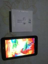 Tablet Samsung com chip mais fone bluetooth s