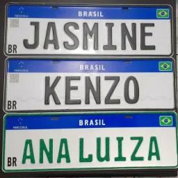 Placas Mercosul Decorativa até 10 letras