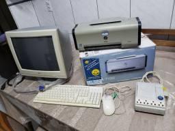 Impressora IP 1000 Canon e monitor 17 pol. LG .