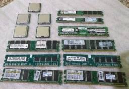 Processadores + Memórias +  Coollers