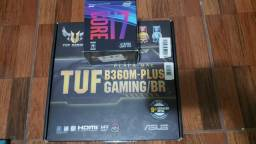 Kit i7 8700 + B360m Plus TUF Gaming (8 Geração)