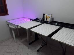 Mesa para serigrafia com 3 berços