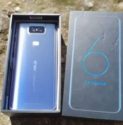 Zenfone 6 Silver Asus, com Tela de 6,4?, 4G, 128 GB e Câmera Flip 48+13MP<br><br>