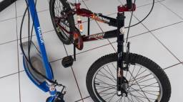 Patinete motorizado e bicicleta