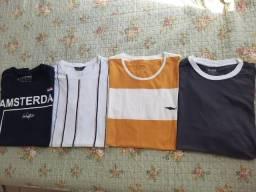 04 camisas de malha tam M /10,00 cada