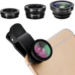 Kit Lentes par Câmera de Celular (3 em 1 Universal Clip Lens)