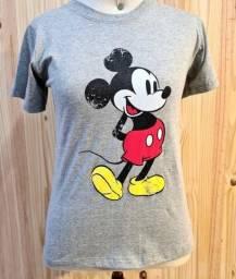 Camiseta Mickey 100% algodão fio 30