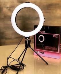 Iluminador Ring Light de Mesa com Suporte para Celular!