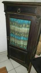 Armario de cozinha antigo em madeira ckm prateleiras e gaveta superior