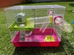 Gaiola hamster semi nova completa