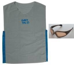 Colete Cinza e Oculos Nerf