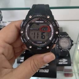 Relógio original MORMAII! 1 ano de garantia
