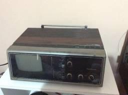 Tv radio relogio antigo panasonic