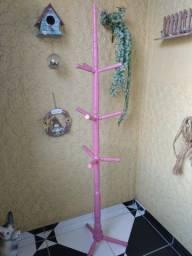 Cabideiro Feminino (Madeira - cor rosa)