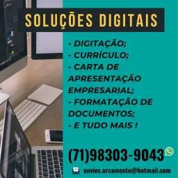 (67) Soluções Digitais para você e sua empresa: Currículo, Digitação, Formatação e afins